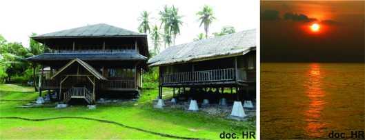 Lokasi penginapan dan pantai Ujung Karang